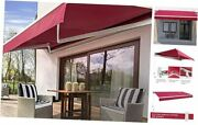 Patio Awning Retractable 12and039x10and039 Fully Assembled Motoried Electric Red