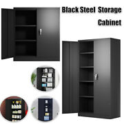 72 Tall Metal Garage Storage Cabinet Large Steel Utility Cabinets W/4 Shelves