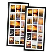2 Pack 4x6 Collage Picture Frames With 15 Openings, Multi Black Photo Frame