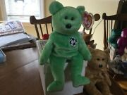 Rare Mint Ty Beanie Baby Kicks The Soccer Bear Retired With Mint Tag Errors