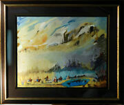 Earl Biss Spring Of The Rainbow Warriors Hand Signed Landscape Make An Offer