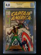 Captain America 117 Cgc 4.0 Signed By Stan Lee 1st App Of Sam Wilson The Falcon
