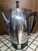 Vintage Presto 12 Cup Stainless Steel Electric Coffee Percolator Model 0281102
