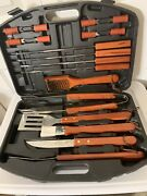 Bbq Set Stainless Steel Grill Tools Barbecue Grilling Accessories Case 18 Piece