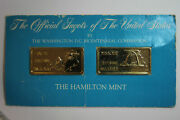 Two 1 Troy Ounce Maine And Missouri G.p. Over 999 Fine Silver Bars Num6184