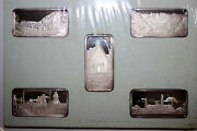 Five 1 Troy Ounce America The Beautiful Fine Silver 999 Bars Ms Num6195