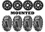 Kit 4 Cst Wild Thang Cu05 Tires 28x10-12/28x12-12 On Itp Delta Steel Black Can