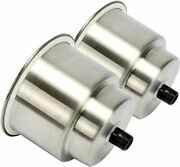 2 Pack Stainless Steel Cup Drink Holder With Drain For Marine Boat Rv Camper
