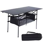 Outdoor Portable Camping Kitchen Picnic Table Bbq Stand Stoarage Locker Folding