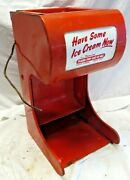 Flare Top Eat In All Lighted Ice Cream Cone Metal Dispenser Sign Soda Fountain