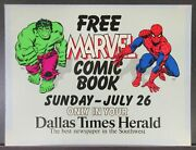 Sunday Times Herald Free Marvel Comic Book Promotional Poster July26 Fn 6.0 1981