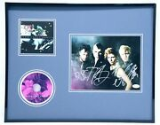 Neon Trees Group Signed Framed 16x20 Habits Cd And Photo Set Jsa
