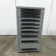 Equipto 10 Drawer Industrial Parts Tool Storage Shop Cabinet 30x28x59