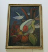 1930and039s Antique Expressionism Modernism Still Life Signed Russian Japanese Hi