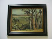 Nina Martino Oil Painting Vintage Cactus View Landscape Impressionist American