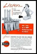 1959 Anderson Rotary Ice Cream Cup Filler Machine Photo Vintage Print Ad