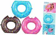 Inflatable Pool Tubes 3 Pack, Pool Floats Swimming Ring For Kids Water