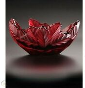 1850 Lalique Crystal Bowl Paysage Compiegne Red Champs Elysees 10330000 Mib