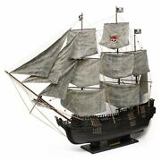 120cm Black Pearl Large Ship Model Pirate Wooden Handcrafted Sailboat Home Deco