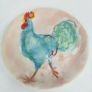 And Co. - England - 1998 - Roosters - Blue Rooster Salad Plate