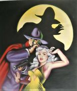 The Shadow Pulp Oil Painting Fritz After Steranko The Shadowand039s Shadow 16x20