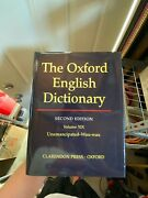 The Oxford English Dictionary 1989, Hardcover, Revised Edition 1-20. Full Set