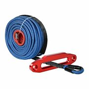 95and039 3/8 Synthetic Uhmwpe Winch Rope 22000lbs And Red 10 Mount Hawse Fairlead Atv