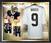 Drew Brees New Orleans Saints Framed Signed White Limited Jersey Collage