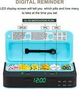 Medicine Organizer Weekly Pill Organizer With Smart Alarm 7 Times A Day Led
