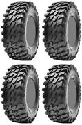 Four 4 Maxxis Rampage Atv Tires Set 2 Front 28x10-14 And 2 Rear 28x10-14