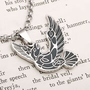 Unisex Punk Silver Spread Wings Eagle Pendant Necklace Goth Rock Fashion Jewelry