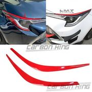 Paint Red Fit For Toyota Corolla Auris 5d Front Headlight Cover Eyebrows Trim 22