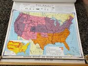 Denoyer Geppert Our America Map Pull Down 13 Layers 1967
