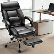 Reclining Swivel Office Executive Chair Desk Computer Gaming Chair W / Footrest