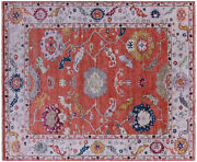 8and039 1 X 9and039 10 Turkish Oushak Hand-knotted Wool Rug - Q9141
