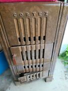 Vintage Cortez Sears And Roebuck 2 Chamber Parlor Stove