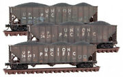 Micro-trains Mtl N-scale 100-ton 3-bay Hoppers Union Pacific/up Weathered 3-pack