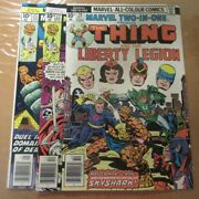 3 Marvel Two In One Comics, Thing And Thor 22, 23 Thing And Liberty Legion 20