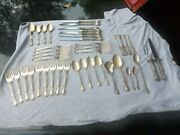 Antique 1895 Gorham Sterling Silver Chantilly Flatware 44 Pieces Serving For 7