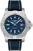 Breitling Avenger Automatic Gmt 45mm Blue Dial Menand039s Watch A32395101c1x2 On Sale