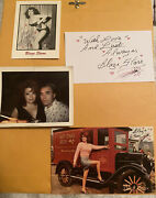 Blaze Starr Original Signed Ultimate Collection 20 Items Purse Photos Letters