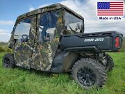 Doors Rear Window And Roof For Can Am Defender Max - Mossy Oak - Soft Material