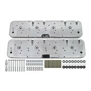 Ls Valve Cover Adapter Kit, Ls To Sbc - Polished - Make Your Ls Look Classic