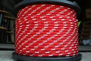 Novatech Xle Halyard Sheet Line Dacron Sailboat Rope 7/16 X 150and039 Red/white