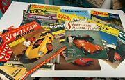 1950andrsquos And 1960andrsquos Auto Magazine Lot Mixed Assortment 35 Sports Car Illustrated