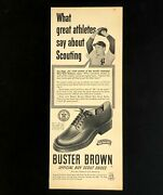 1950 Buster Brown Advertisement Ny Yankees Joe Page Boy Scout Shoes Print Ad