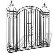 Ornamental Garden Gate Wrought Iron 4'x8x4' 5 Outdoor Patio Archway Rose Arch