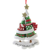 Holiday Ornament Decorated Trees 1st Christmas Love Hearts Genigerbread W8479