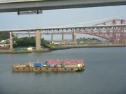 Photo Work Barge Under The Queensferry Crossing Just South Of The North Cable S