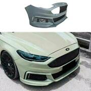 For Ford Mondeo Fusion 2013-16 Mt Primer Black Front Bumper Bottom Protector 2pc